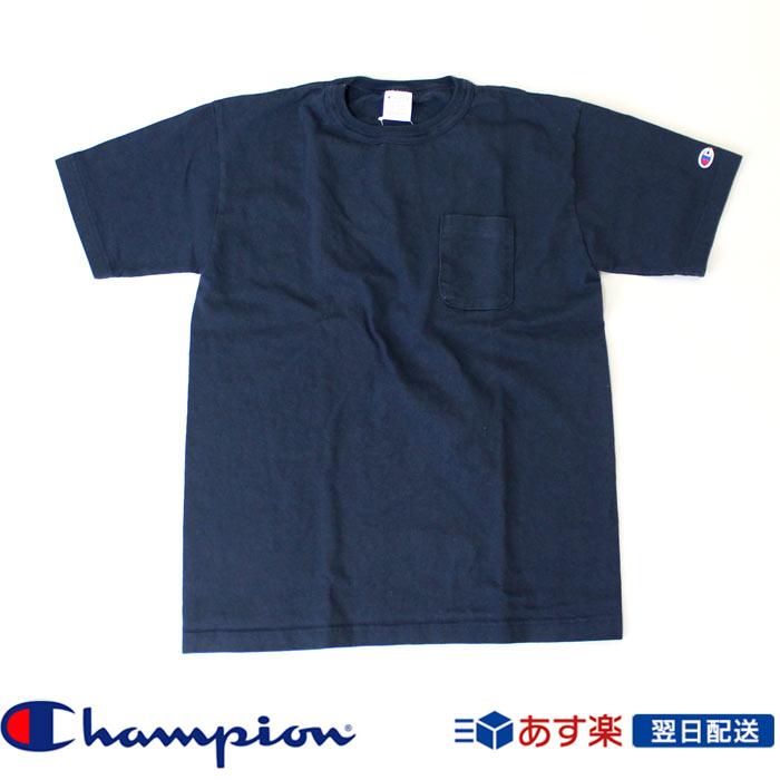 チャンピオン Champion ポケット付きTシャツ T1011 US Tシャツ MADE IN USA(チャンピオン) 厚手生地Tシャツ アメカジ ポケT (c5-b303-010) ネイビー