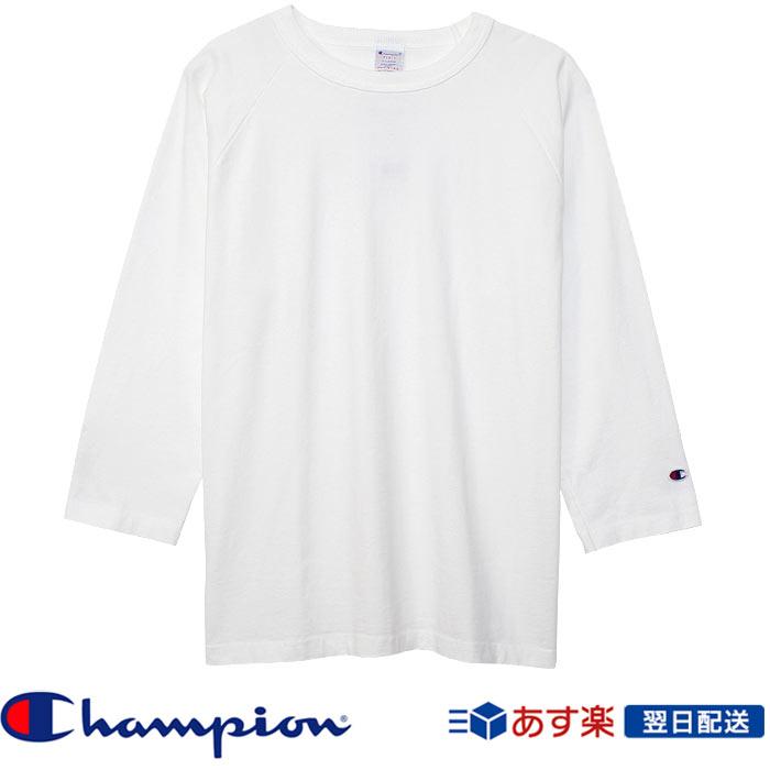 【2018FW新作】チャンピオン Champion T1011(ティーテンイレブン) ラグラン3/4スリーブ【7分袖】Tシャツ (C5-U401) ホワイト White