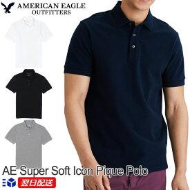 アメリカンイーグル American Eagle メンズ ポロシャツ AE Super Soft Icon Pique Polo Shirt【4色】ホワイト│ブラック│ネイビー他【送料無料】