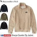 【新作!】アバクロンビー&フィッチ 正規品 アバクロ Abercrombie&Fitch メンズ フリース ジャケット シェルパ ハーフジップジャケット アウター Sherpa Quarter Zip