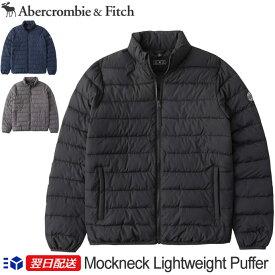 【2020FW新作!】アバクロ Abercrombie&Fitch アバクロンビー&フィッチ モックネック ライトウェイト ダウンジャケット アウター Mockneck Lightweight Puffer Jacket【3色】ブラック│ネイビー他【US限定モデル/送料無料】