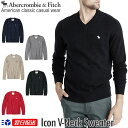 【新作!】アバクロンビー&フィッチ 正規品 アバクロ Abercrombie&Fitch メンズ Vネックセーター ニット:Icon V-Nec…