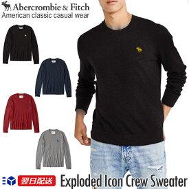 【新作!】アバクロンビー&フィッチ 正規 アバクロ Abercrombie&Fitch メンズ ビックアイコン クルーネックセーター:Exploded Icon Crew Sweater ブラック│グレー│ネイビー│レッド【US限定モデル】