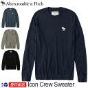 【新作!】アバクロンビー&フィッチ 正規 アバクロ Abercrombie&Fitch メンズ ビックアイコン クルーネックセーター Icon Crew Sweater【4色】ネイビー ブラック グレー他【US限定モデル】