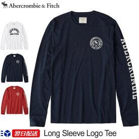 【2019FW新作!】アバクロンビー&フィッチ 正規品 アバクロ Abercrombie&Fitch メンズ ロンT Tシャツ Long Sleeve Logo Tee ホワイト ネイビー レッド【US限定モデル】