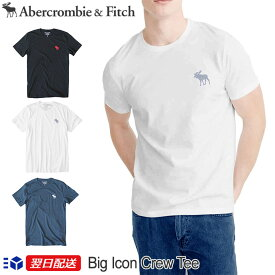 【2020年新作!】アバクロンビー&フィッチ 正規品 アバクロ Abercrombie&Fitch メンズ Tシャツ ビックムース 無地Tシャツ Big Icon Crew Tee【4色】ホワイト ブラック他【US限定モデル】