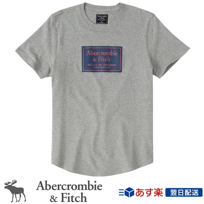 【新作!】アバクロンビー&フィッチ 正規品 アバクロ Abercrombie&Fitch メンズ Tシャツ:Logo Tee - Grey│グレー│灰色
