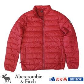 【新作!!】アバクロンビー&フィッチ 正規品 アバクロ Abercrombie&Fitch メンズ ダウンジャケット アウター:Light Weight Packable Puffer Jacket Red│レッド│赤色【US限定モデル/送料無料】