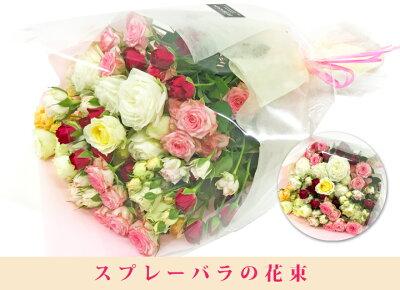 お得なバラ花束スプレーバラの花束です。送料無料誕生日ギフト歓迎送別会薔薇の花束結婚婚記念日バレンタイン発表会自宅用にも最適【楽ギフ_メッセ入力】【楽ギフ_包装】【HLS_DU】【RCP】10P09Jan16