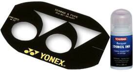 【よりどり3個で送料無料】YONEX(ヨネックス)TOURNA(トーナ)テニス ステンシルマーク+インクセットAC502A-RSI【定番】●●