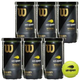 【4500円均一】Wilson(ウイルソン)US オープン・エクストラ・デューティ テニス ボール1缶2球入×6缶WRT1000J-6SET【定番】