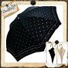 (雨傘)(婦人傘)日傘晴雨兼用フリル付オパールドット(水玉)スライド式手開き日傘47cmHM519336(16★)