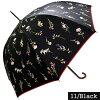 【よりどり3個で送料無料】Lunejumelle(ルナ・ジュメイル)レディース・ウィメンズ晴雨兼用遮光率・遮蔽率99%花柄58cmジャンプ傘ブラックHM8J9412-BK【18☆】【婦人傘】