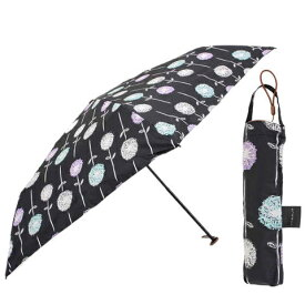 【2500円均一】【よりどり3個で送料無料】mabu(マブ)レディース・ウィメンズ晴雨兼用 軽量(デザイン)55cm 折りたたみ傘フローラ ノワールMBU-LMDPT06【18☆】【雨傘】【婦人傘】