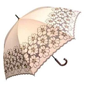 【4500円均一】レディース 日傘純パラソル 花柄刺繍手開き傘 50cmピンク99832-PK【17☆】【婦人傘】