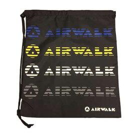 【よりどり5個で送料無料】AIRWALK(エアウォーク)5SランドリーバッグブラックAR1502092-1900【16★】●●