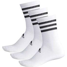 【1000円均一】【廃番】adidas(アディダス)ユニセックス91 BASIC 3P レギュラーソックスホワイト×ホワイト×ホワイトDMK55-BR6133【20☆】
