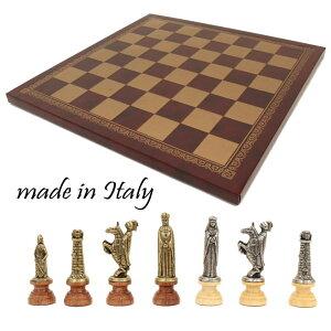 【よりどり3個以上で各200円引き】イタリア製チェスメン&チェスボード イタリア製チェスセット lotario 176mw201gr 【定番】