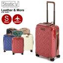 Stratic ストラティック スーツケース 「Leather & More(レザー&モア)」 機内持込 Sサイズ 4輪/35L/2.61kg