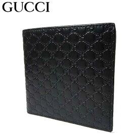 グッチ アウトレット GUCCI 財布 150413 マイクログッチシマ 二つ折り財布(小銭入れ有り) ブラック 【メンズ】【二つ折り】【GG柄】【RCP】【楽天カード分割】