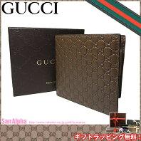 755edc0fcc26 グッチ アウトレット GUCCI 150413 マイクログッチシマ 二つ折り財布(小銭入れ有り) ブラウン系
