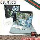 グッチ ブティックライン GUCCI 財布 408666 PVCレザー ブルームス フラワープリント 二つ折り財布(小銭入れ無し) GG柄 花柄・グレーベ…