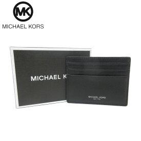 ●BOX付●マイケルコース ブティック Michael Kors カードケース 39F6LHRD2L レザー カードケース HARRISON / TALL CARD CASE / BLACK(ブラック)【メンズ】【RCP】【楽天カード分割】