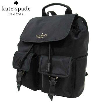 ケイトスペードアウトレットkatespadeショルダーバッグWKR00122-001カーリーナイロンバックパック/リュックflapbackpack/carley/black(001):ブラック