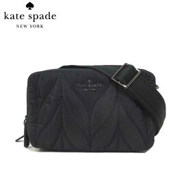 ケイト・スペード アウトレット kate spade ショルダーバッグ WKRU6201-001 ナイロン キルティング ダブルジップ 斜め掛け ポシェット double zip camera bag / ellie / black(001):ブラック【RCP】【楽天カード分割】【レディース】