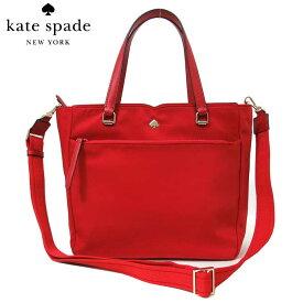 ケイトスペード アウトレット kate spade トートバッグ WKRU6512-623 ナイロン×レザー 2WAY ミディアム サッチェル medium satchel / jae / favrt red(623):レッド系 【レディース】