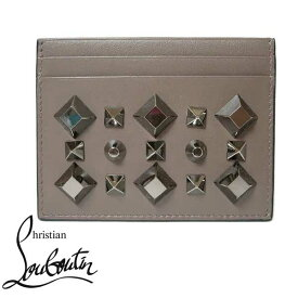 クリスチャンルブタン Christian Louboutin カードケース 3165143-M551 スタッズ カードケース LICHEN / GUN METAL【RCP】【楽天カード分割】【レディース】