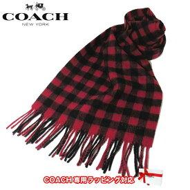 105fd78a9368 コーチ アウトレット COACH アパレル F21057 ウール チェック柄 バッファロー ブレンド スカーフ /マフラー RED(レッド