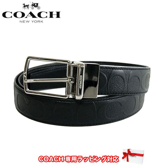 コーチ アウトレット COACH アパレル メンズ F55158 シグネチャー リバーシブル レザー ベルト BLK(ブラック)【ベルト】【メンズ】【RCP】【楽天カード分割】【レディース】