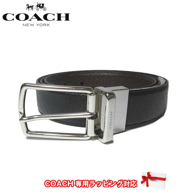 コーチ アウトレット COACH アパレル メンズ F59116 リバーシブル レザー ベルト AQ0(ブラック×ダークブラウン)【ベルト】【メンズ】【RCP】【レディース】