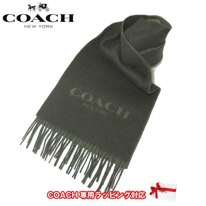 コーチ アウトレット COACH アパレル F86542 バイカラー ロゴ スカーフ マフラー MGR(ミリタリーグリーン)【RCP】【楽天カード分割】