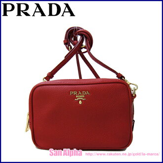 Prada outlet PRADA shoulder bag 1NF674 mini shoulder VITELLO GRAIN (leather) Womens ' FUOCO (red series)
