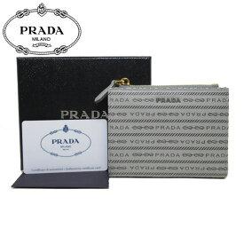 プラダ アウトレット PRADA 財布 1ML023 サフィアーノ ロゴ 二つ折り財布 SAFFIANO PRADA / NUBE【レディース】