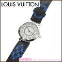 ルイ・ヴィトン LOUIS VUITTON LV 腕時計(レディース) Q12MGH タンブールPM モノグラム 文字盤ホワイト ブラック×ブルー系【RCP】【0815楽天カード分割】【レディース】【