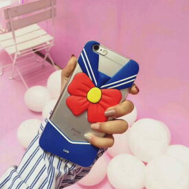 【メール便送料無料】iphoneケースセーラー服面白いおもしろいケースカバー人気クリア透明おしゃれ韓国【iphone8/7、iphone8plus/7plus】