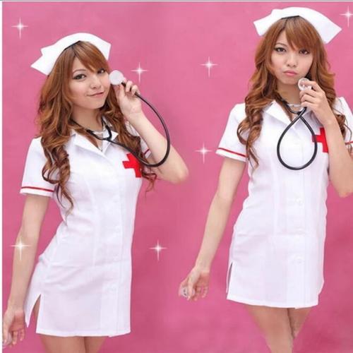 【メール便送料無料】コスプレ衣装ハロウィン仮装セクシーナース看護師看護婦レディースかわいい医者ドクターカチューシャミニスカートミニワンピース