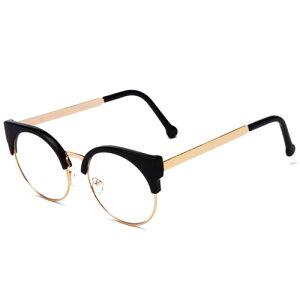 おしゃれ めがね レディース メガネ ユニセックス 伊達眼鏡 伊達メガネ 黒縁メガネ ウェリントン ボストン べっ甲 ハーフリム おじめがね ゴールド メンズ ラウンド キャットアイ ブラック