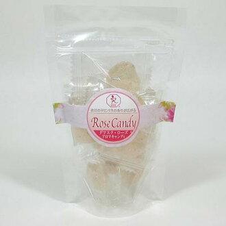 """""""ダマスクローズキャンディー 40 g' 镶嵌奢华花瓣的粉红色的心形糖果。香的绫玫瑰为优雅的、 友好的和甜的、 软的利差的。"""