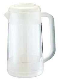 BKポリカーボ ウォーターピッチャー丸型 2.1L(クリア/スモークブラウン)卓上 樹脂製 半透明 ラーメン屋さんのポット 熱中症対策 水分補給【日本製】