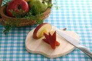 四万十ひの木卓上まな板アップル(55005)天然木ひのき21×21cmカッティングボードパン切りブレッドプレートナチュラルりんごかわいい【日本製】