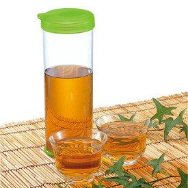 アクティーS グリーン(0047081)お茶ポット ピッチャー 麦茶 緑茶 熱中症対策 水分補給 軽量 きれいに洗える【日本製】