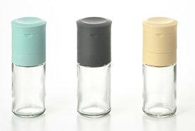 MILLU セラミック ミル(塩ミル/ごまミル/こしょうミル)香辛料入れ 挽きたて 食卓 調味料 透明