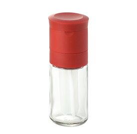 MILLU とうがらしミル(MI-022)セラミック 香辛料入れ 挽きたて みじん切り 食卓 調味料 唐辛子 透明 赤