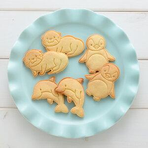 水族館クッキー型 Cookie Set AQUARIUM(クッキーセット アクアリウム)(A-76995)型抜き イルカ カワウソ ペンギン かわいい 製菓 お菓子 手作り プレゼント お中元 御中元