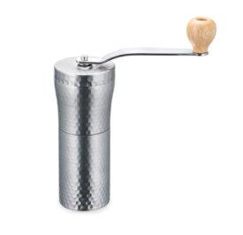 MILLU セラミックステンレスコーヒーミル【槌目】(MI-011)キッチン コーヒー 細かく 水洗い さびにくい ティータイム スローライフ【日本製】