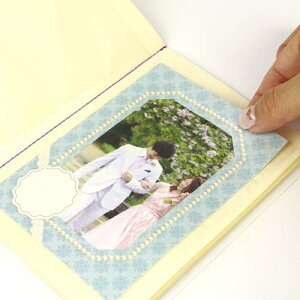 フレームステッカー ウエディング ブルー リジョイス 《手作りアルバム/スクラップブック/結婚祝い/ウエディング/誕生日/記念/送別品/台紙/成長日記/おしゃれ/大人/かわいい/可愛い》【メー